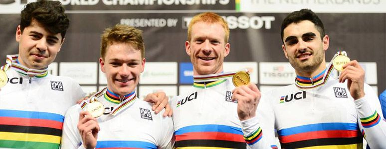 Charlie Tanfield, Ethan Hayter, Ed Clancy and Kian Emadi win gold