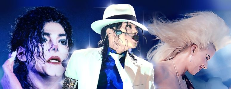 King of Pop show image featuring Michael Jackson tribute Navi and guitarist Jennifer Batten