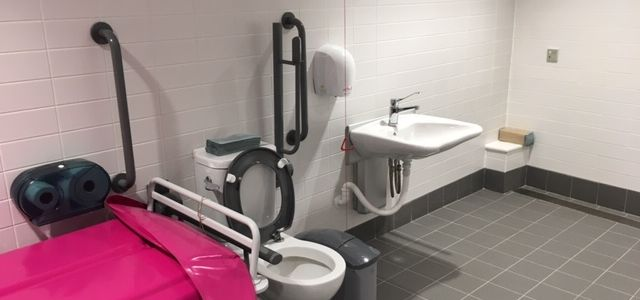 Derby Arena Changing Places toilet and washbasin